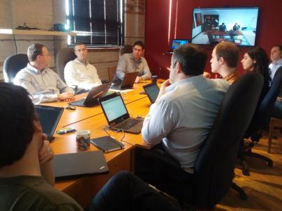 Заседание совета директоров в он-лайн конференции с квебекским офисом