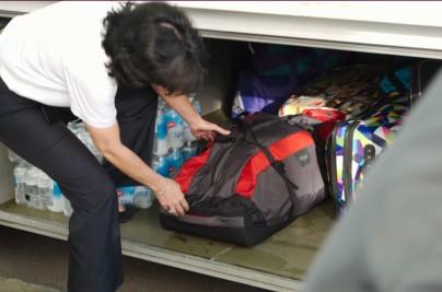 Сумки и чемоданы аккуратно укладывались лично водителем. Размерчик у всех не компактный. :-)
